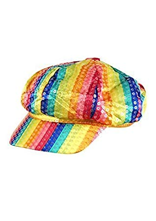 e968182e5d6 GAY PRIDE RAINBOW SEQUIN CAP ADULT HAT  Amazon.co.uk  Toys   Games