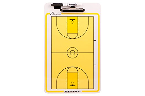 Champion Dry-Erase 2 Sided Basketball Coach-Coaches-Coaching Board With Marker