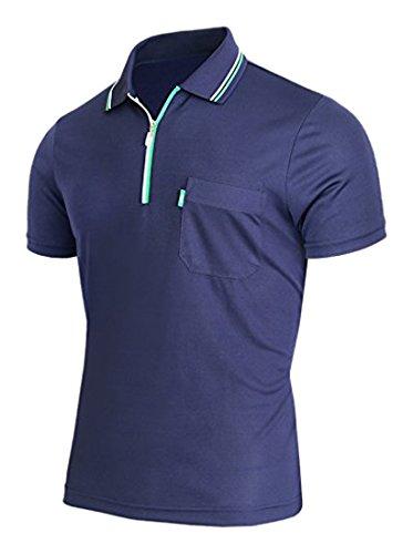 以前は共産主義特異なBCPOLOジップポロシャツのDriフィットポロシャツアスレチック半袖カジュアル、ゴルフポロシャツ