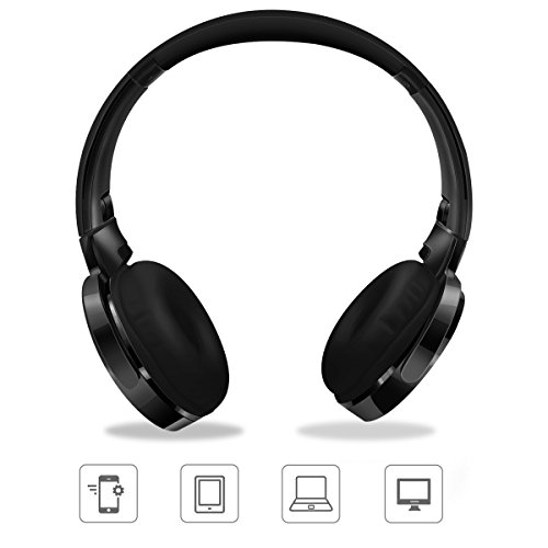 kimitech bluetooth headphones wireless bluetooth foldable over ear headphones with mic hi fi. Black Bedroom Furniture Sets. Home Design Ideas