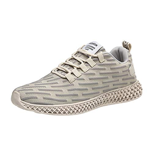 (JJHAEVDY Men's Sneakers Mesh Ultra Lightweight Breathable Athletic Running Walking Gym Shoes Fashion Personality Outdoor)