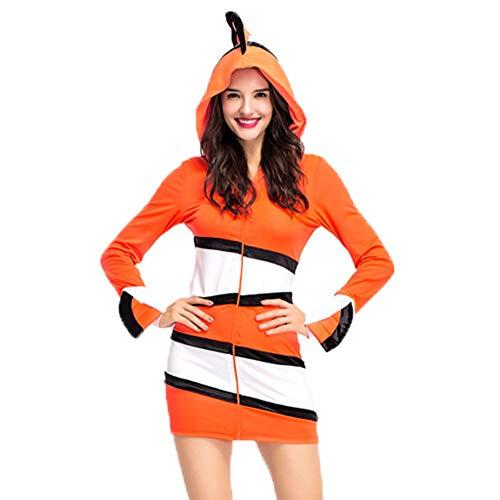 (Da Mai Disney Finding Nemo Deluxe Costume Cozy Orange Clownfish Cosume Family)