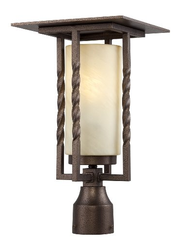 Designers Fountain FL31936-FBZ Parkview Post Lanterns, Flemish Bronze by Designers Fountain