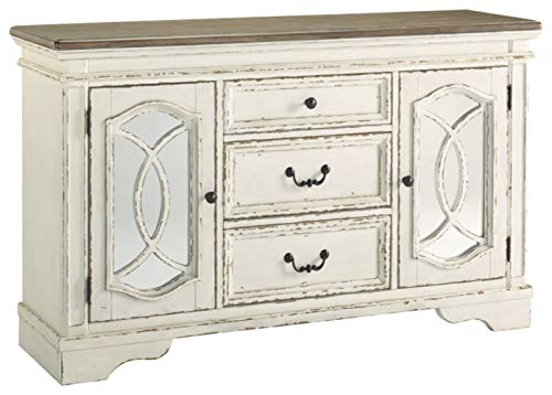 Signature Design by Ashley D743-60 Realyn Dining Room Server Chipped White