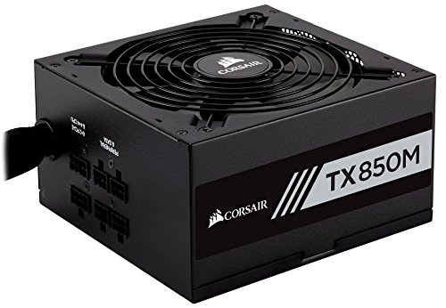 CORSAIR TXM Series, TX850M, 850 Watt, 80+ Gold Certified, Semi Modular Power Supply