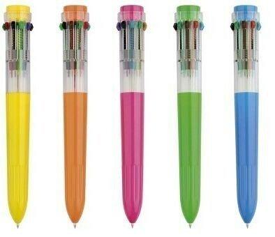 10 Color Pen - Resulzon One Dozen Ten Color Ultra-Clean Shuttle Pens 12 PCS