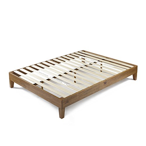 Zinus 12 Inch Deluxe Wood Platform Bed / No Boxspring Needed / Wood Slat Support / Rustic Pine Finish, Twin - bedroomdesign.us