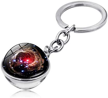 Cosmic Galaxy Planet Time Gemstone Double-Sided Glass Ball K