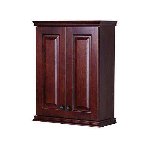 Summit Rich Auburn Bathroom Wall Mounted Vanity Storage Cabinet by Summit