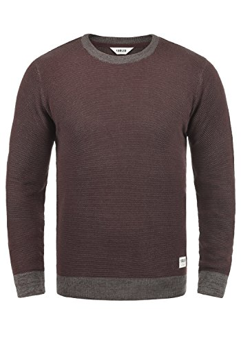 Rond Tricot Pull Maille En Raekwans solid Fudge over Homme 100 Pull Coton 5560m Encolure xwSURxzq