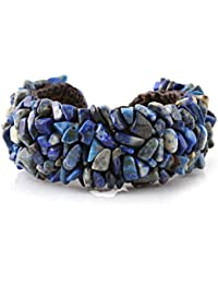 MGD, Navy Blue Lapiz Lazuli Color Bead on Wax Cord Fashion Wrap Bracelet, Adjustable Bangle, Fashion Jewelry for Women, Teens and Girls, JB-0208B