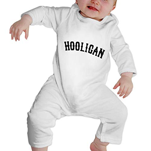 Crazy Popo Newborn Baby Intellectual Hooligan Long Sleeve Romper Bodysuit Playsuit Outfits White ()