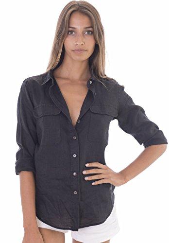 CAMIXA Womens Button down Pockets Casual