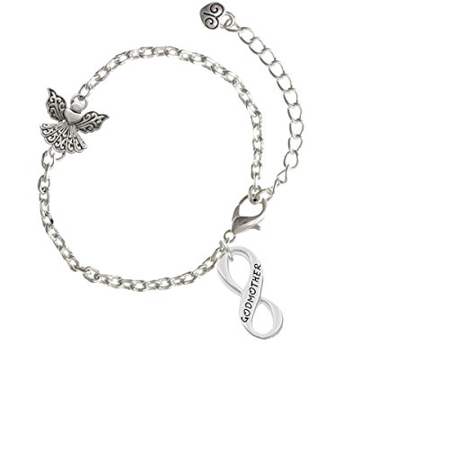 Silvertone Godmother Infinity Sign   Angel Connector Zoe Bracelet  8