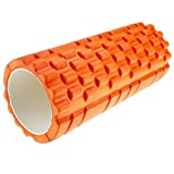 Kabalo - 1 x ORANGE Textured Exercise / Yoga Foam Roller for Gym Pilates Physio Trigger Point