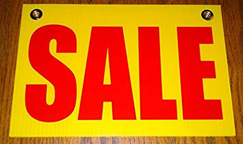 1Pc Grand Unique Sale Coroplast Signs Printed Indoor Plastic Message Declare Window Vinyl Store Retail Banner Home Holder Post Outdoor Banners Board Kit Clearance Price Sign Size 8
