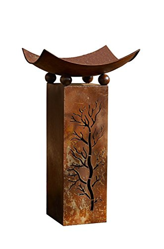 Cheap PSW – Garden Decor Decorative Rustic Metal Fire Pillar with Removable Bowl – Brazier Fire Column, 2pc Set Product SKU: GD229513
