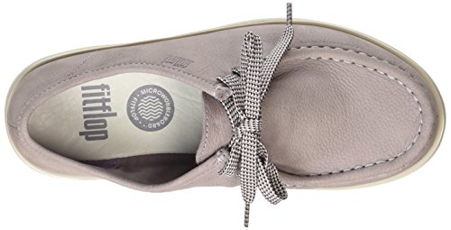 Fitflop Loaff Lace-up Moc - Zapatos de vestir Mujer Rosa - Pink (Plumthistle 346)
