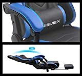 Dowinx Gaming Chair Ergonomic Racing Style Recliner with Massage Lumbar Support, Office Armchair for Computer PU Leather E-Sports Gamer Chairs with Retractable Footrest