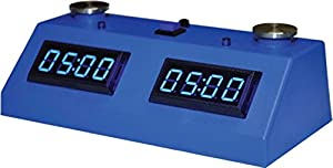 ZMart Fun ZMF-II Digital Chess Clock - Blue LED Display / Blue Case