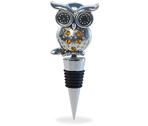 - Cheers Reusable Premium Metal Zinc Alloy Wine Stopper Plug FDA Approve For Bar & Kitchen - Reuse Airtight Seal Bottle To Preserve & Prevent Oxidation - With Gift Box (Owl)