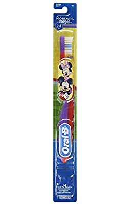 Oral-B Kids Toothbrush, Pro-Health Stages Mickey & Minnie Mouse for Little Children Ages 2-4 Years Old, Extra Soft (Pack of 6)