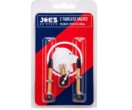 JOE'S(ジョーズ) NO-FLATS チューブレスバルブ 仏式 48mm 2個 [並行輸入品]