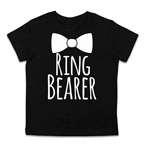 Ring Bearer Shirt Ring Bearer Gift Ring Bearer Tee (Black, 3 Toddler)