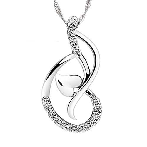"""There's No Charm Equal to Tenderness of Heart"" Sterling Silver Melody Pendant Necklace"