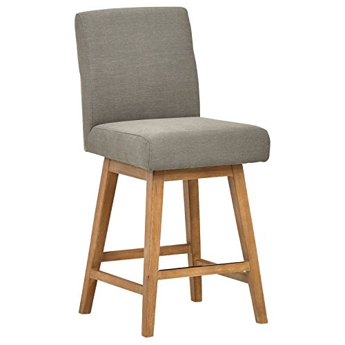 "Stone & Beam Sophia Modern Swivel Counter Stool, 39.4""H, Slate"