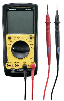 Sperry Instruments DM6450 Digital Multimeter 9 Function, 750/1000V AC/DC, 10A Current, Continuity, 10 Auto Range