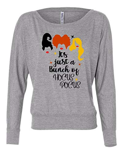 It's Just A Bunch of Hocus Pocus Halloween Witch Long Sleeve Women's Shirt -