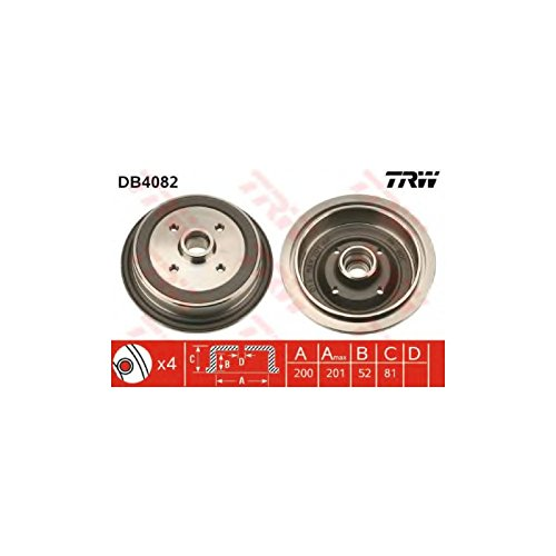 TRW DB4082 Brake Drums: