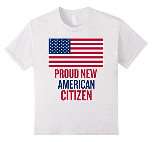 Kids Proud New American Citizen USA Citizenship Gift T-Shirt 10 White