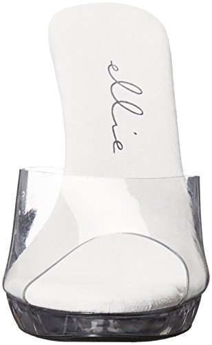 Ellie Shoes Womens 521-vanity-w Heeled Sandal Clear