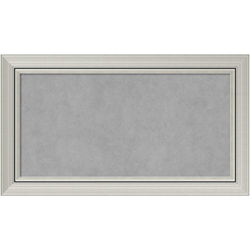 Framed Magnetic Board, Choose Your Custom Size, Romano Silver Wood by Amanti Art