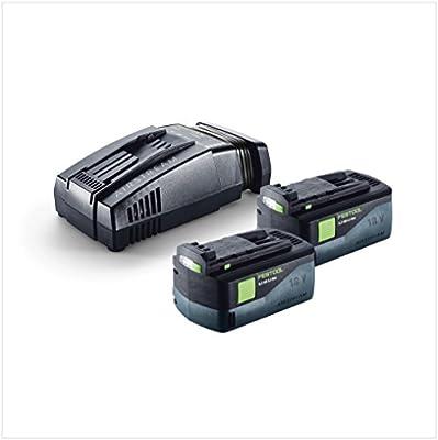 Festool SCA 8 Ion de litio Cargador rápido (200178) + 2 x Festool BP 18 Li 6,2 AS 18 V 6,2 Ah Batería Pack batería de ion de litio con tecnología de Airstream (201774): Amazon.es: Bricolaje y herramientas