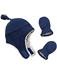 Little Boys and Baby Sherpa Lined Micro Fleece Pilot Hat...