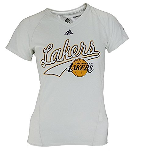 Los Angeles Lakers NBA Women's Climalite Short Sleeve Tee - White (X-Large) -