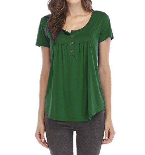 Haut Tee Blouses Plier Casual Tops Onlyoustyle T t Manches Courtes Vert Shirts Femmes Fashion Chemisiers BOawXq