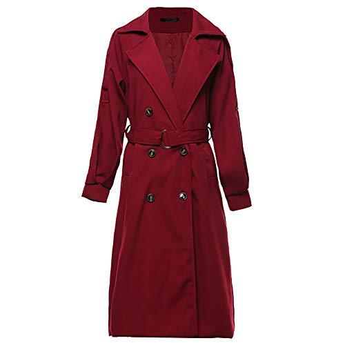 À Lâche Manteau Et Vin Col Coupe 2018 Capuche Rouge Femme Confortable The Avoir Coupe Ceinture vent De New Costume Revers Blansdi Long Veste Slim Cardigan 4qPwExZ