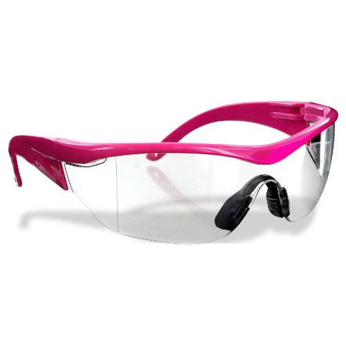 Safety Girl SC-282 Polycarbonate Navigator Safety Glasses, Clear Lens, Pink - Nm Girl