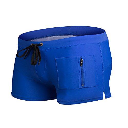 ZQ@QXMode Plage boxer short de natation,L,blue