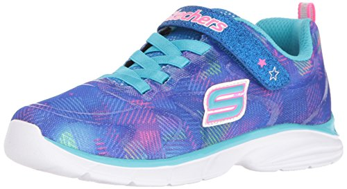 Skechers Kids Girls' Spirit Sprintz-Rainbow Raz Sneaker,Blue/Multi,