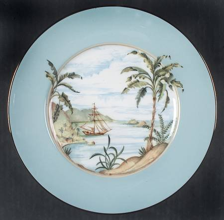 (Lenox Colonial Tradewind Accent Luncheon Plate, Fine China Dinnerware)