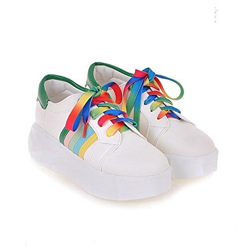 Zapatos de señora Coreano Joker/la comodidad en zapatos de suela gruesa/deletrear color con zapatos de la primavera A