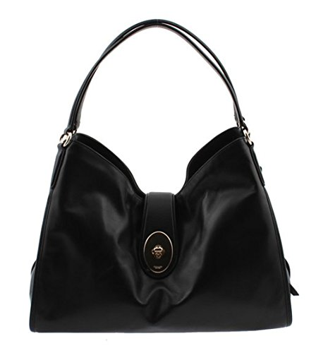 Coach Carlyle Shoulder Bag in Smooth Leather F37637 (Black) by Coach