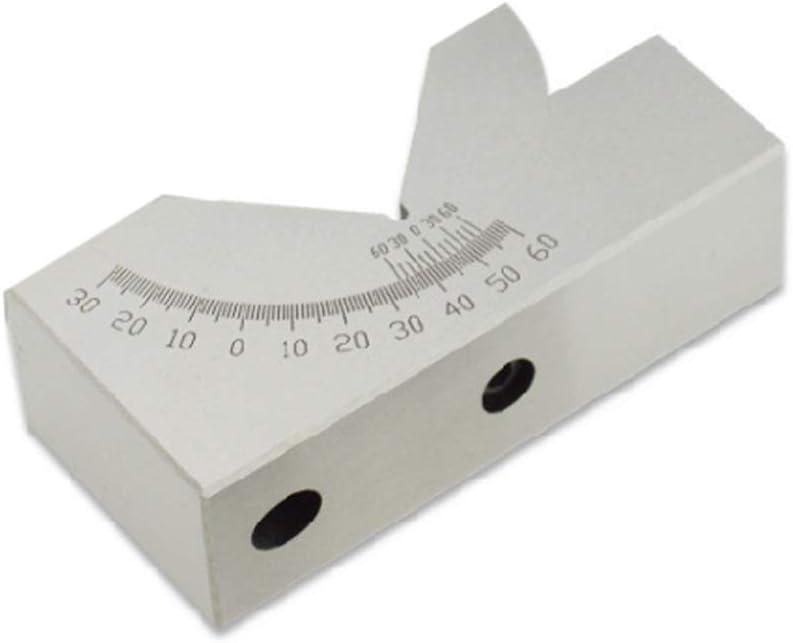 Wenjuersty AP30 - Indicador de ángulo ajustable con bloque en V (precisión de 0 a 60 grados, para fresadora)