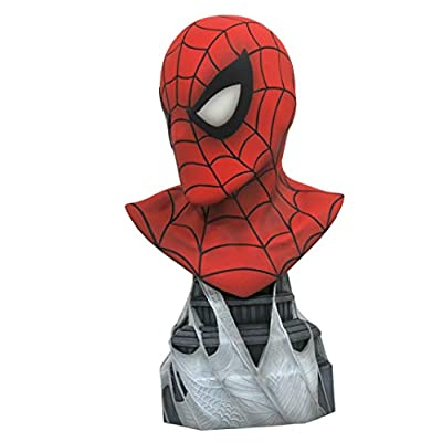 DIAMOND SELECT TOYS Legends in 3-Dimensions: Marvel Spider-Man 1: 2 Scale Bust, Multicolor, 10 inches: Toys & Games