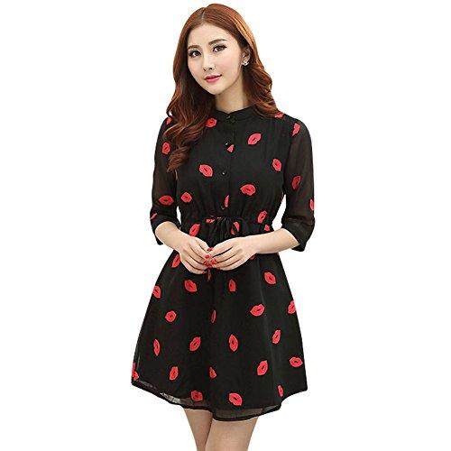 3/4 sleeve black dress target - 3
